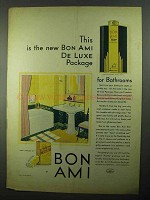 1931 Bon Ami Cleanser Ad - New De Luxe Package