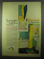 1931 Bon Ami Cleanser Ad - Against Scratch-Cleaning