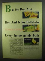 1931 Bon Ami Cleanser Ad - Is For Bathtubs
