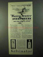 1931 Kelvinator Water Cooler Ad - Water Everywhere