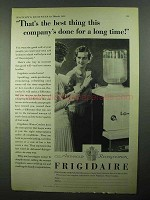 1931 Frigidaire Water Cooler Ad - Best Thing Done