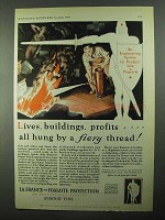 1931 La France and Foamite Fire Extinguisher Ad - Lives