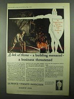 1931 La France and Foamite Fire Fighting Equipment Ad - Lick of Flame