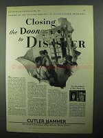 1931 Cutler-Hammer Motor Controls Ad - Door to Disaster