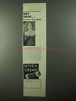 1931 Nivea Creme Ad - Dry Skin Helped Overnight