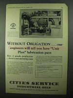 1931 Cities Service Industrial Oils Ad - Unit Plan Pays
