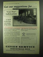 1931 Cities Service Industrial Oils Ad - Suggestions