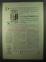 1931 Van Camp's Pureed Spinach Ad - Digestibility