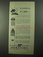 1931 Horlick's Malted Milk Ad - The Feat of a Golfer