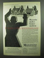 1931 Masonite Structural Insulation Ad - Homes Modern