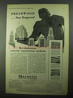 1931 Masonite Tempered Presdwood Ad - Revolutionizes