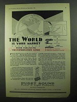 1931 Puget Sound Power & Light Ad - World is Market
