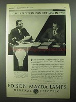 1931 General Electric Edison Mazda Lamps Ad - Profit