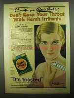 1931 Lucky Strike Cigarettes Ad - Your Adam's Apple
