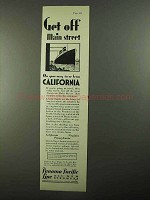 1931 Panama Pacific Line Ad - Get Off Main Street
