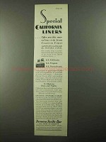 1931 Panama Pacific Line Ad - Special California Liners