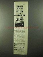 1931 Panama Pacific Line Ad - All Year 'Round
