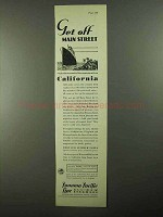 1931 Panama Pacific Line Advertisement - Get Off Main Street