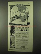 1931 Los Angeles Steamship Co Ad - LASSCO Hawaii