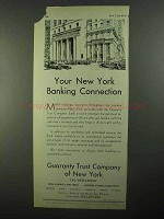 1931 Guaranty Trust Company of New York Ad - Banking