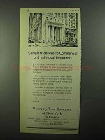 1931 Guaranty Trust Company of New York Ad - Service