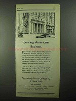 1931 Guaranty Trust Company of New York Ad - Business