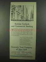 1931 Guaranty Trust Company of New York Ad - Contacts