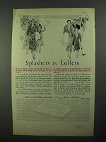 1931 Ivory Soap Ad - Splashers vs. Lollers