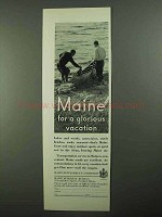 1931 Maine Development Commission Ad - Glorious