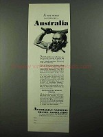 1931 Australian National Travel Association Ad -
