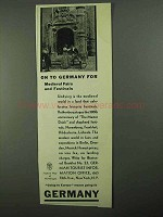 1931 German Tourism Ad - Medieval Fairs and Festivals