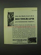1931 Dictograph System of Interior Telephones Ad