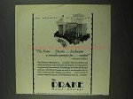 1931 The Drake Hotel Ad - Veritable Synonym for Comfort