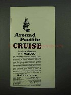 1931 Matson Cruise Ad - Around Pacific Cruise
