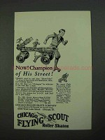 1931 Chicago Flying Scout Roller Skates Ad - Champion