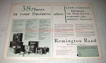 1931 Remington Rand Safe-Cabinet Equipment Ad