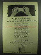 1926 Ivory Soap Ad - Pure and Dainty a Cake
