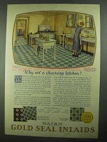 1926 Nairn Gold Seal Inlaid Floor Ad - No. 51-150