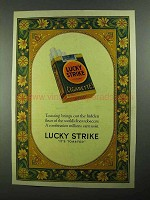1926 Lucky Strike Cigarettes Ad - Toasting Brings Out