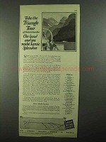 1925 Canadian National Railways Ad - Triangle Tour