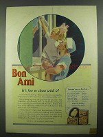 1925 Bon Ami Ad - It's Fun To Clean With It