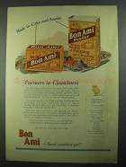 1925 Bon Ami Ad - Partners in Cleanliness