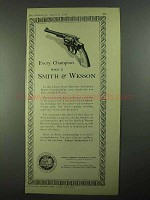 1925 Smith & Wesson Revolver Ad - Every Champion Uses