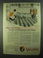 1925 Valentine's Valspar Ad - Make Laundry Cheerful