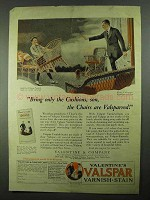 1925 Valentine's Valspar Varnish-Stain Ad - The Chairs