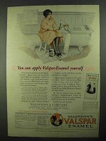 1925 Valentine's Valspar Enamel Ad - Can Apply Yourself