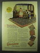 1925 Gold Seal Congoleum Art-Rug Ad - Pattern 516, 396