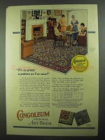 1925 Gold Seal Congoleum Art-Rug Ad - Pattern No. 548