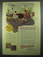 1925 Gold Seal Congoleum Art-Rug Ad - Pattern 516