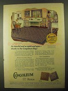 1925 Gold Seal Congoleum Art-Rug Ad - Pattern No. 379